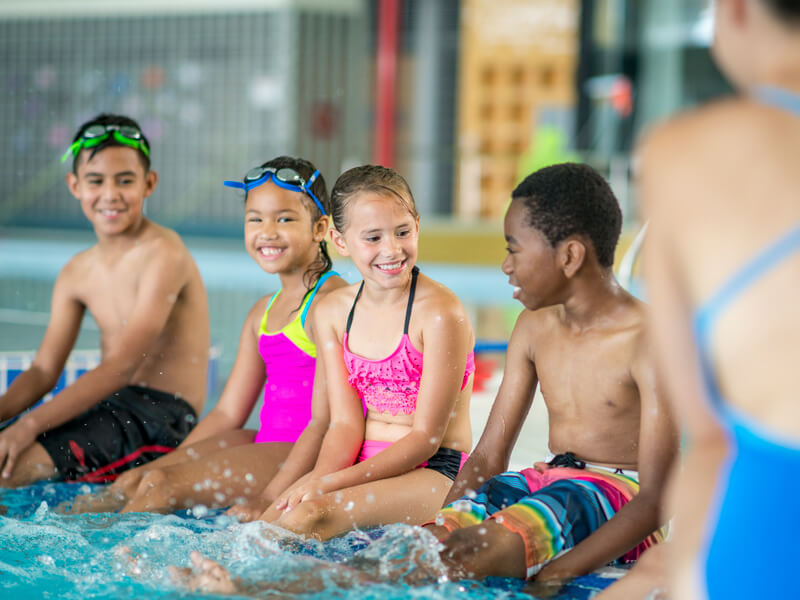 Saginaw Swims - 3rd Grade swim lessons at the YMCA