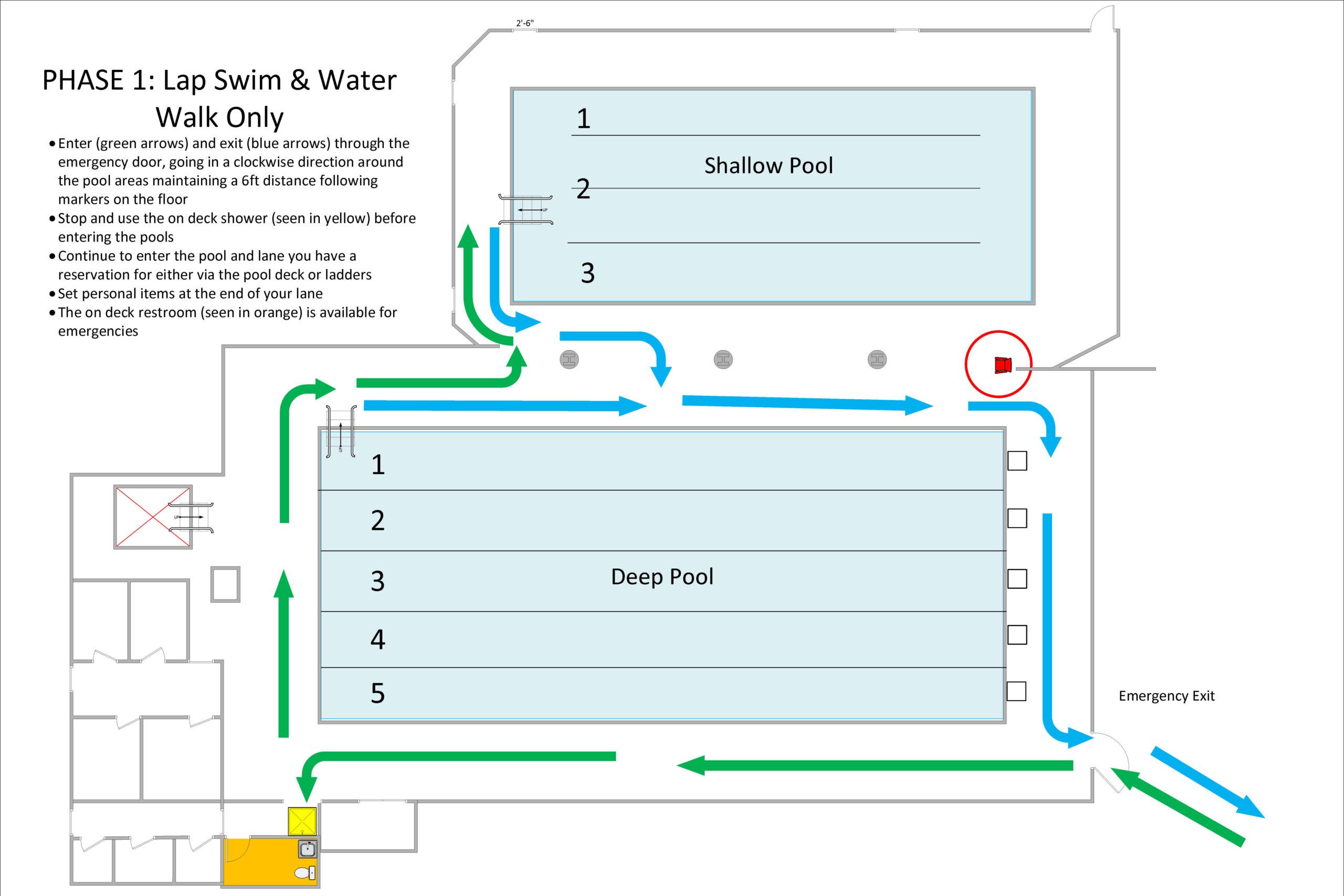Phase 1 pool area